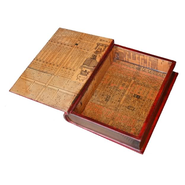 Red A4 Size Bookshape Jewellery Box - Open Style - Open View