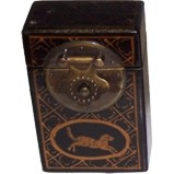 Black Card Painted Box - Animal