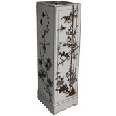 Creamy Five Drawers Painted CD / DVD Cabinet - Flower