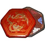 Chinese Checkers Dragon & Phoenix Red