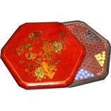 Chinese Checkers Flower and Bird Red