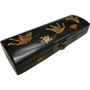 Black Painted Chopstick / Pencil Box