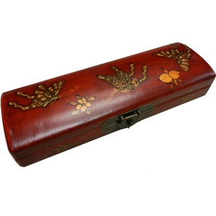 Red Painted Chopstick / Pencil Box