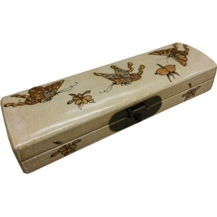 Creamy Painted Chopstick / Pencil Box