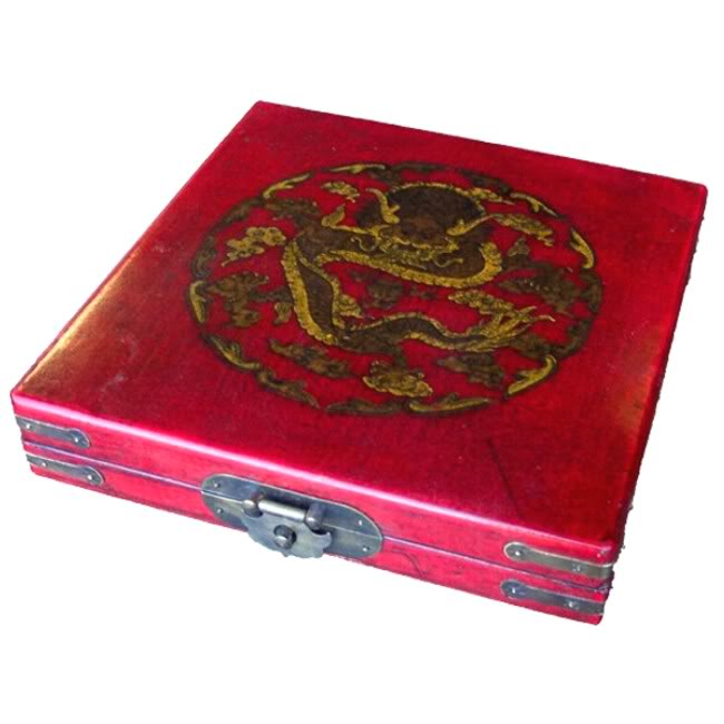Large Red Compass - Dragon