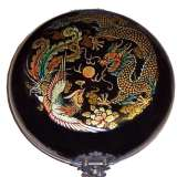 Black Round Dragon Compass