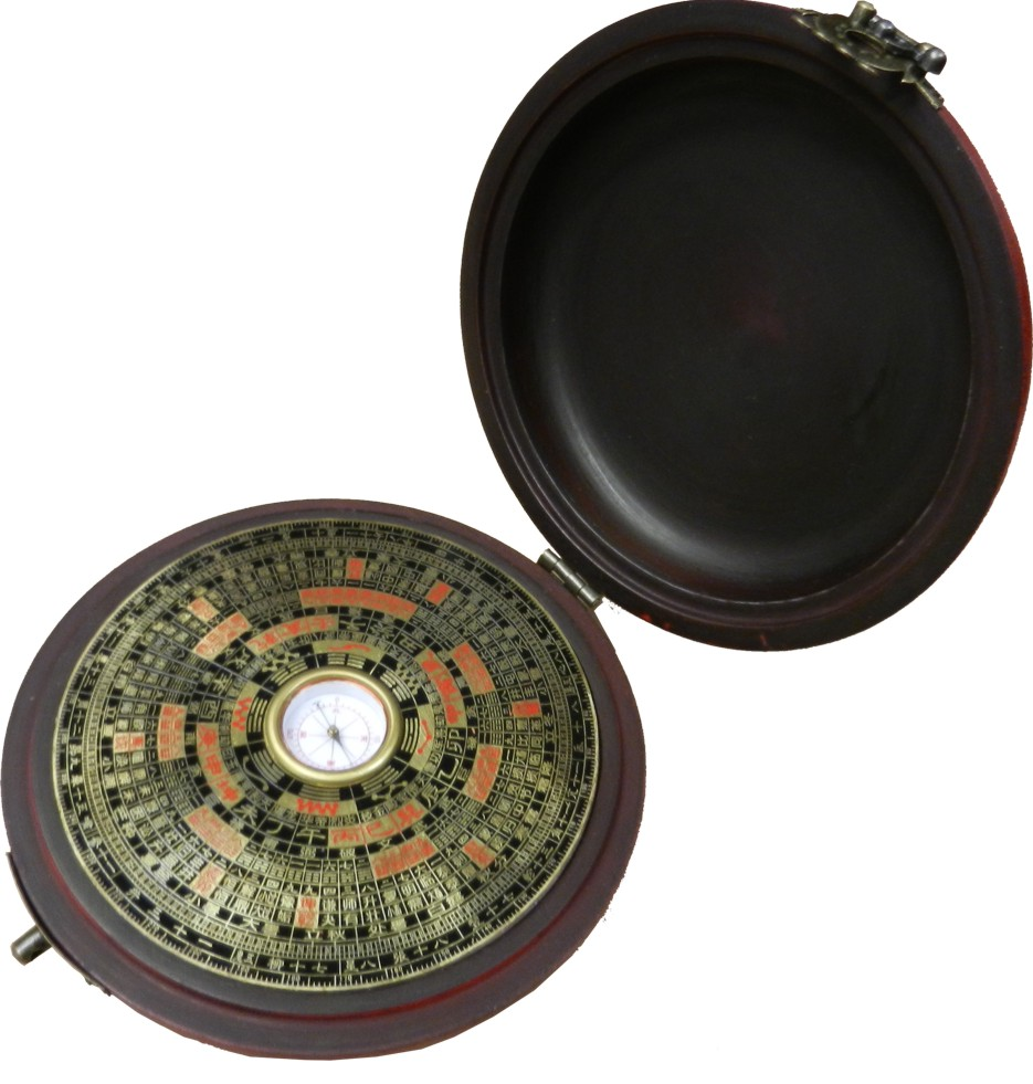 Red Round Dragon Compass