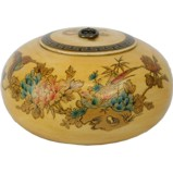 Creamy Hand Painted Round Wood Box
