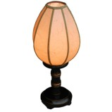 Black Candle Light Style Lamp with Lampshade