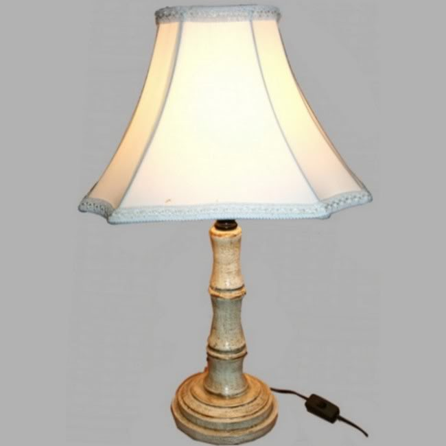 Creamy Wooden Bamboo Style Base Lamp