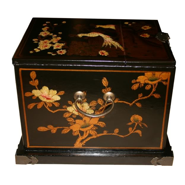 Black Luxury Jewellery Box - Side View