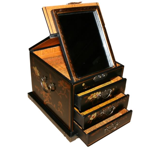 Black Luxury Jewellery Box - Open View
