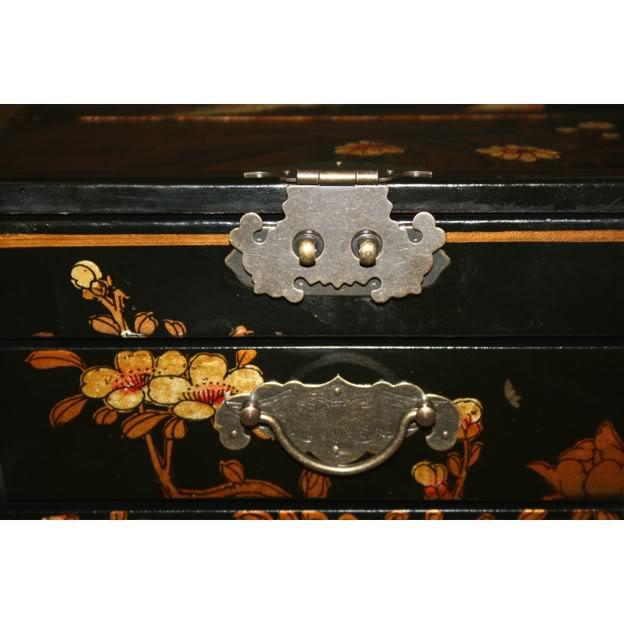 Black Luxury Jewellery Box - Detail