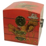 Dome Top Red Mirror Box - Dragonfly