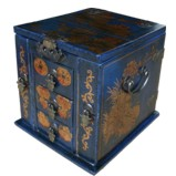 Blue Multi-Purpose Jewellery Box with Mirror - Coin