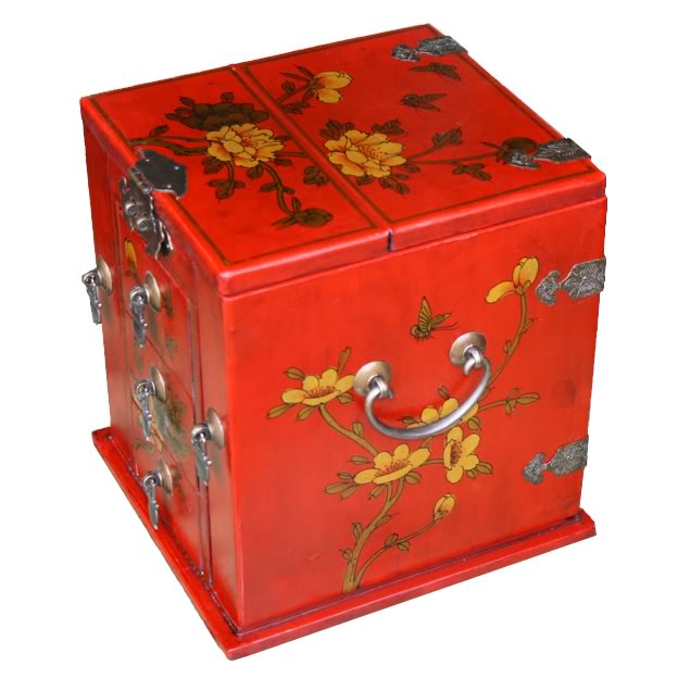 Red Multi-Purpose Jewellery Box - Side View