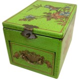 Light Green Jewellery Box with Stand-Up Mirror
