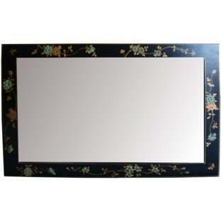 Black Mirror with Painted Frame - Horizontal