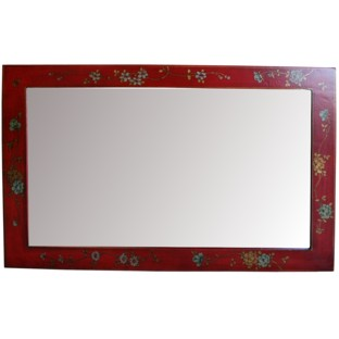 Red Mirror w/ Paintings - Horizontal