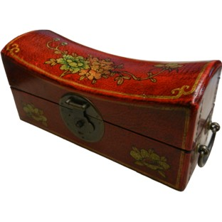 Red Large Pillow Shape Jewellery Box