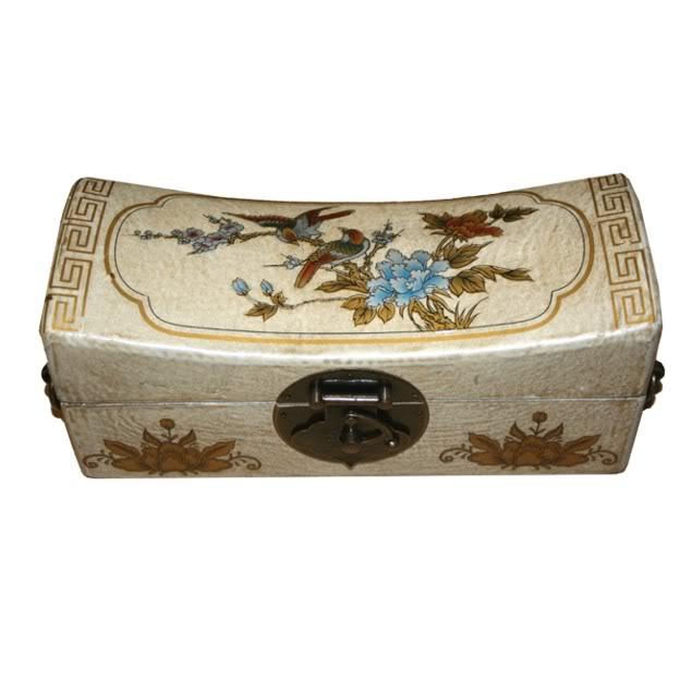 White Large Pillow Shape Jewellery Box