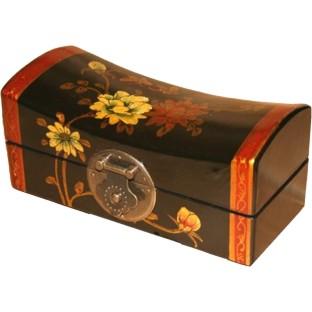Black Medium Pillow Shape Jewellery Box