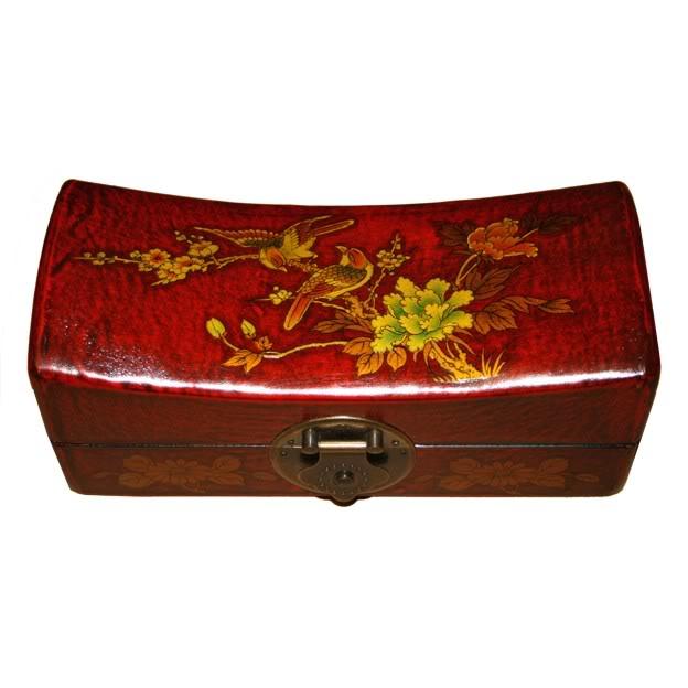 Red Medium Pillow Shape Jewellery Box