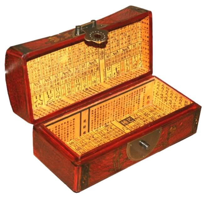 Red Medium Pillow Shape Jewellery Box - Open View