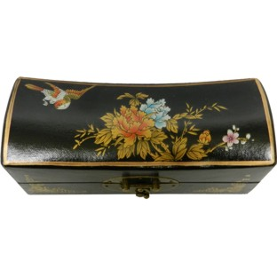 Black Medium Pillow Shape Jewellery Box