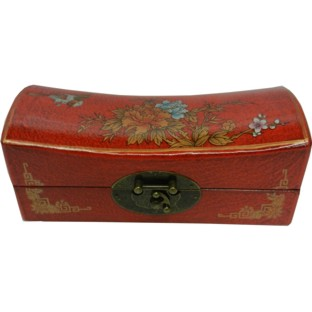 Red Medium Pillow Shape Jewellery Box