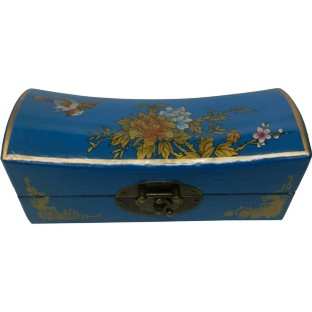 Blue Medium Pillow Shape Jewellery Box