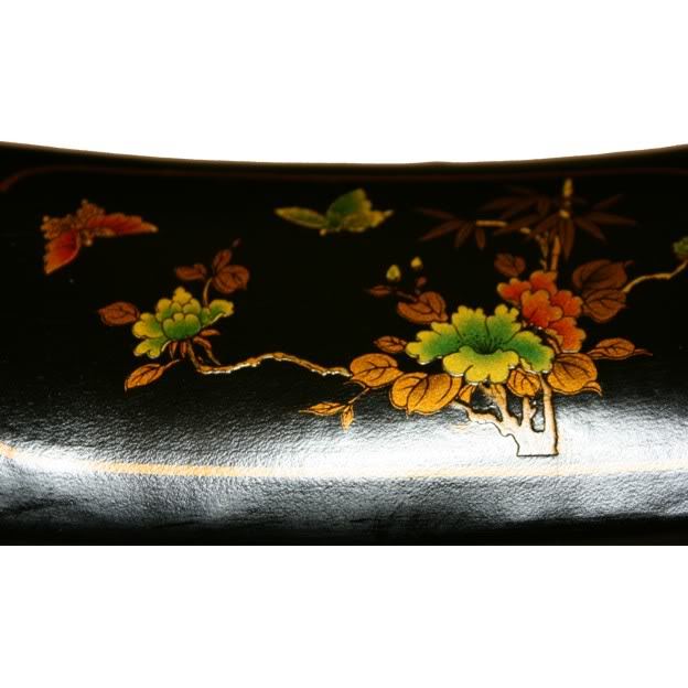 Black Small Pillow Shape Jewellery Box - Detail