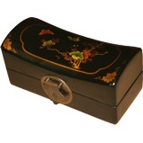Black Small Pillow Shape Jewellery Box