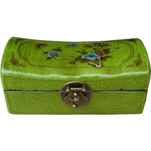 Green Small Pillow Shape Jewellery Box