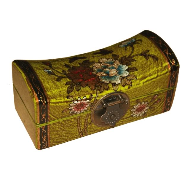 Light Green Small Pillow Shape Jewellery Box