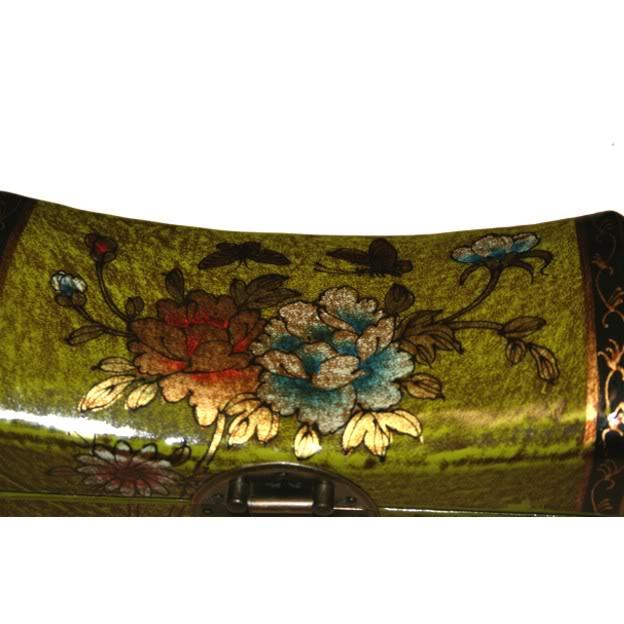Light Green Small Pillow Shape Jewellery Box - Detail