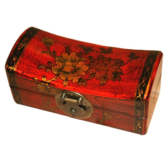 Red Small Pillow Shape Jewellery Box