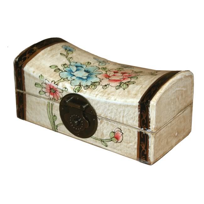 Creamy Small Pillow Shape Jewellery Box