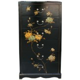 Black Painted Chinese Chest of Drawers