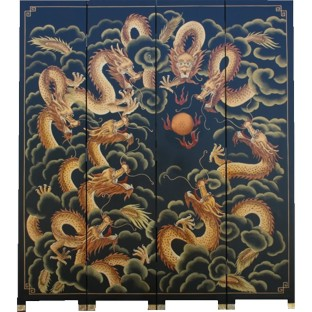 Nine Dragons Room Divider Screen