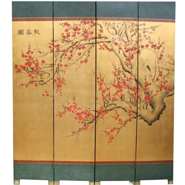 Cherry Blossom Room Divider Screen