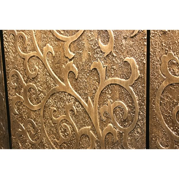 Floral Gold Coromandel Screen - Part 3