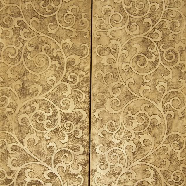 Floral Gold Coromandel Screen - Part 4