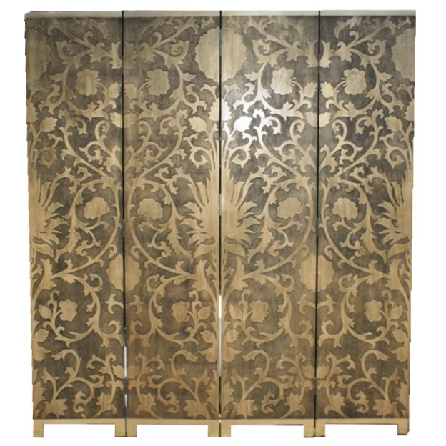 French Gold Screen / Room Divider - Sun Flowers