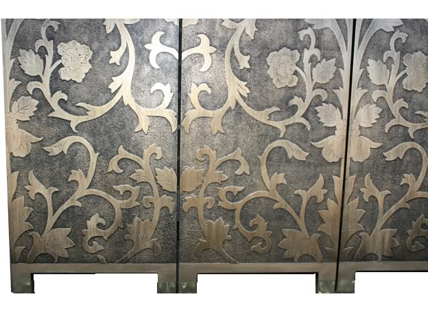 French Gold Screen / Room Divider - Sun Flowers-Detail 2