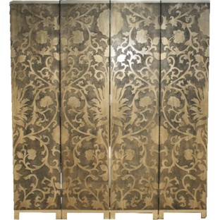 French Gold Room Divider Screen - Sun Flowers