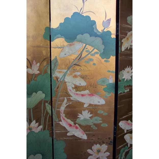 Koi Gold Fish Room Divider Screen - Part 2