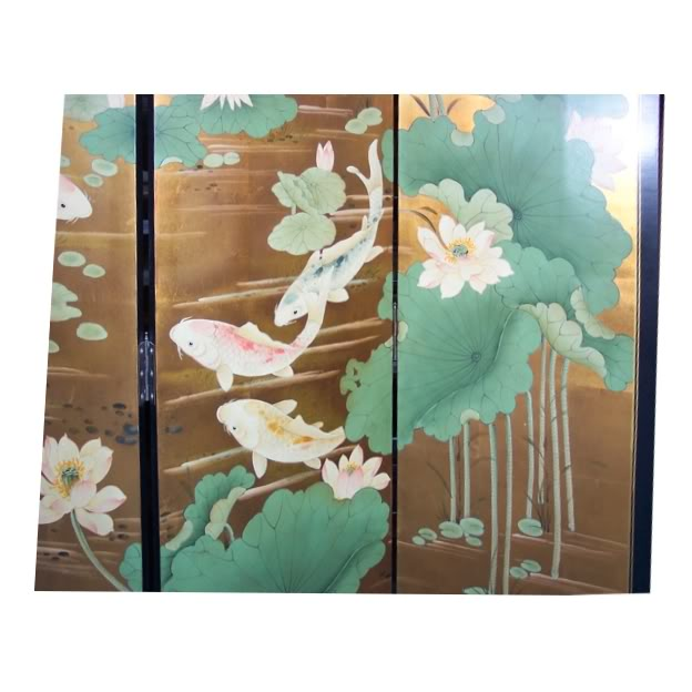Koi Gold Fish Room Divider Screen - Part 3
