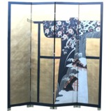 Japanese Kimono With Clothes Rack Screen