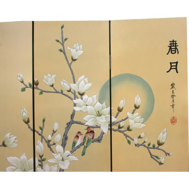 Chinese Spring Moon Blossom Room Divider Screen - Part 2